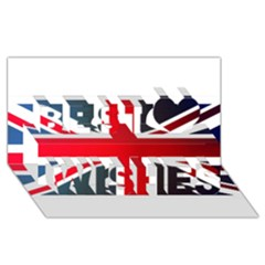 Brit2 Best Wish 3D Greeting Card (8x4)