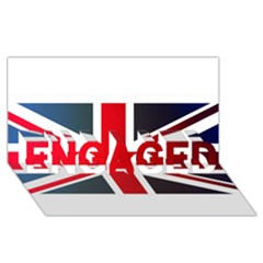 Brit2 Engaged 3d Greeting Card (8x4)