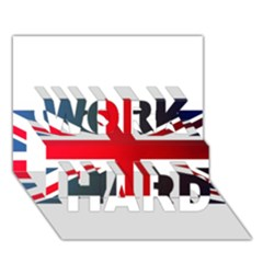 Brit2 WORK HARD 3D Greeting Card (7x5)