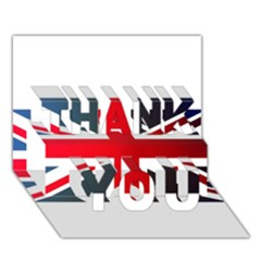 Brit2 THANK YOU 3D Greeting Card (7x5)