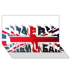 Brit2 Happy New Year 3d Greeting Card (8x4)
