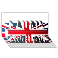 Brit2 Laugh Live Love 3D Greeting Card (8x4)