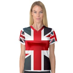 Brit2 Women s V Neck Sport Mesh Tee