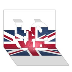 Brit3 LOVE 3D Greeting Card (7x5)