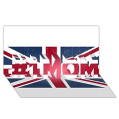 Brit3 #1 Mom 3d Greeting Cards (8x4)