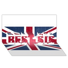 Brit3 Best Sis 3d Greeting Card (8x4)