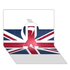 Brit3 Ribbon 3D Greeting Card (7x5)
