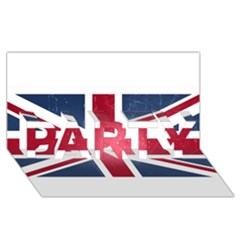 Brit3 PARTY 3D Greeting Card (8x4)