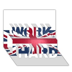 Brit3 WORK HARD 3D Greeting Card (7x5)