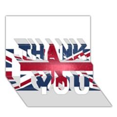 Brit3 Thank You 3d Greeting Card (7x5)