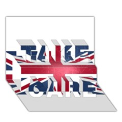 Brit3 Take Care 3d Greeting Card (7x5)
