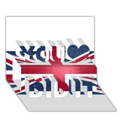 Brit3 You Did It 3D Greeting Card (7x5)