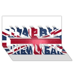 Brit3 Happy New Year 3D Greeting Card (8x4)