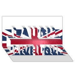 Brit3 Laugh Live Love 3D Greeting Card (8x4)