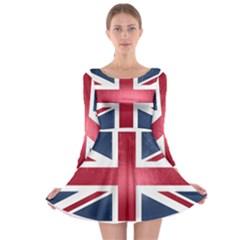 Brit3 Long Sleeve Skater Dress