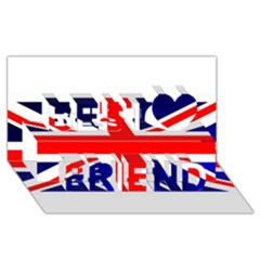 Brit4 Best Friends 3d Greeting Card (8x4)