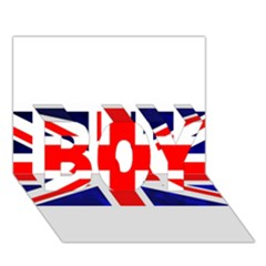 Brit4 Boy 3d Greeting Card (7x5)