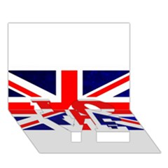 Brit4 LOVE Bottom 3D Greeting Card (7x5)