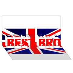 Brit4 Best Bro 3d Greeting Card (8x4)