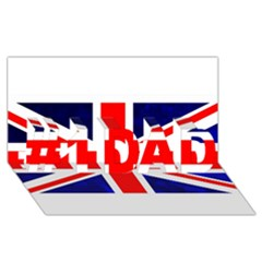 Brit4 #1 DAD 3D Greeting Card (8x4)