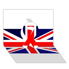 Brit4 Ribbon 3D Greeting Card (7x5)