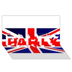 Brit4 PARTY 3D Greeting Card (8x4)