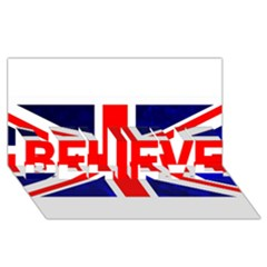 Brit4 Believe 3d Greeting Card (8x4)