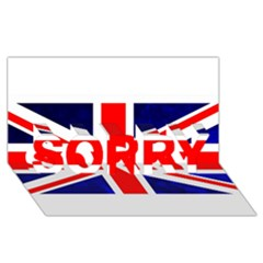 Brit4 SORRY 3D Greeting Card (8x4)