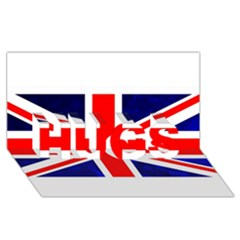 Brit4 Hugs 3d Greeting Card (8x4)