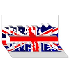 Brit4 Best Wish 3d Greeting Card (8x4)