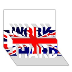 Brit4 Work Hard 3d Greeting Card (7x5)