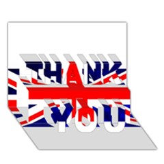 Brit4 THANK YOU 3D Greeting Card (7x5)