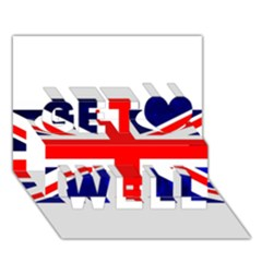 Brit4 Get Well 3D Greeting Card (7x5)