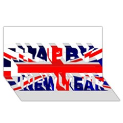 Brit4 Happy New Year 3D Greeting Card (8x4)
