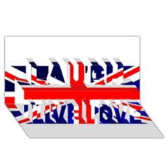 Brit4 Laugh Live Love 3d Greeting Card (8x4)