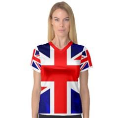 Brit4 Women s V Neck Sport Mesh Tee