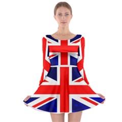 Brit4 Long Sleeve Skater Dress