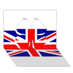 Brit5 Clover 3d Greeting Card (7x5)
