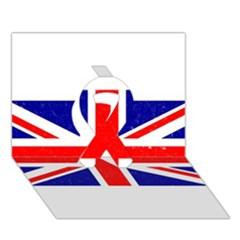 Brit5 Ribbon 3D Greeting Card (7x5)