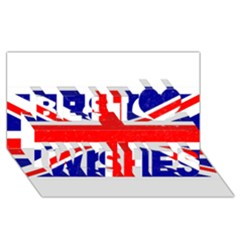 Brit5 Best Wish 3D Greeting Card (8x4)