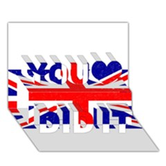 Brit5 You Did It 3d Greeting Card (7x5)