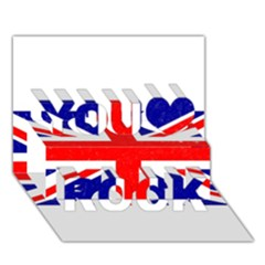 Brit5 You Rock 3d Greeting Card (7x5)