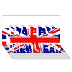 Brit5 Happy New Year 3D Greeting Card (8x4)