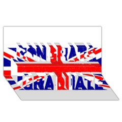 Brit5 Congrats Graduate 3D Greeting Card (8x4)
