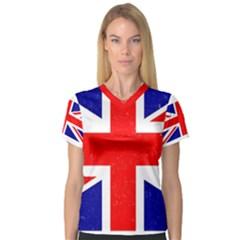 Brit5 Women s V Neck Sport Mesh Tee