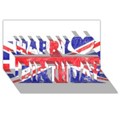 Brit6 Happy Birthday 3D Greeting Card (8x4)