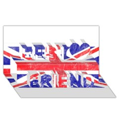 Brit6 Best Friends 3d Greeting Card (8x4)