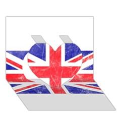 Brit6 Heart 3D Greeting Card (7x5)