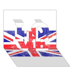 Brit6 LOVE 3D Greeting Card (7x5)
