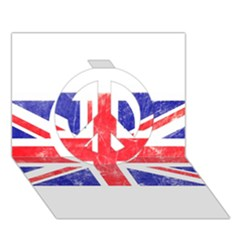 Brit6 Peace Sign 3d Greeting Card (7x5)